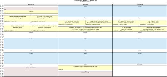 Grille horaire générale
