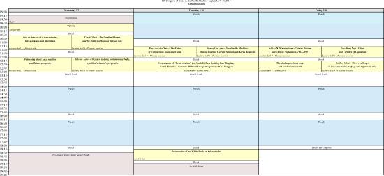 Global timetable